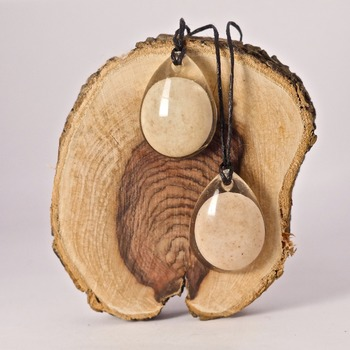 Round Stone Necklace Resin Jewellery Accessories Natural Pretty Handmade Jewelry