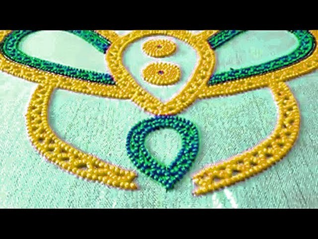 Sequin Bead Work Aari Embroidery Designing Hand Embroidery Work For