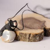 Sloth Bear Necklace Animal Agate Jewellery Accessories Handmade Wildlife Nature