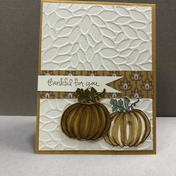 """Thanks"" Embossing 2 Pumpkins"