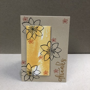 """Thanks"" Floral Side Stamp"