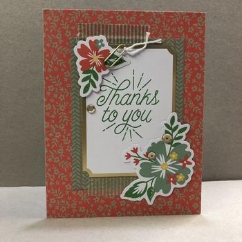 """""""Thanks"""" Pink Back Floral Diagonals"""
