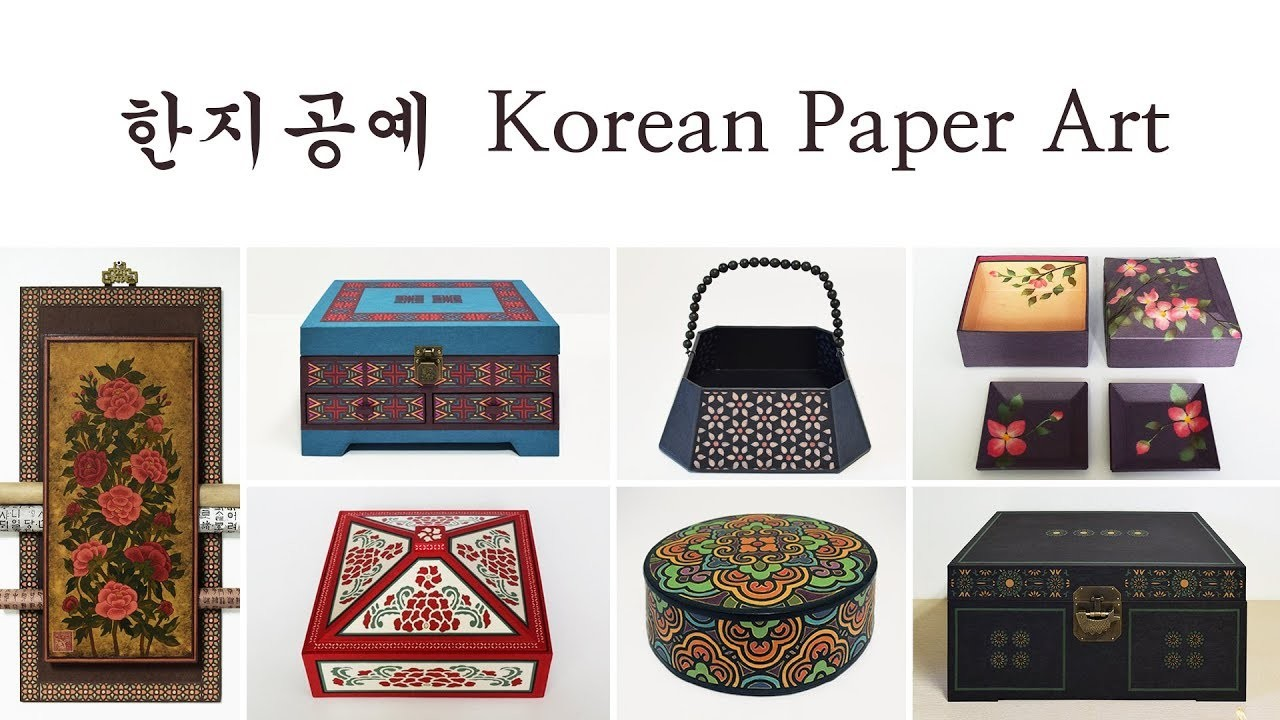 2. Korean Paper Art!  Hanji Works. Hanji Paper Craft Basic Techniques. How to Make Coasters