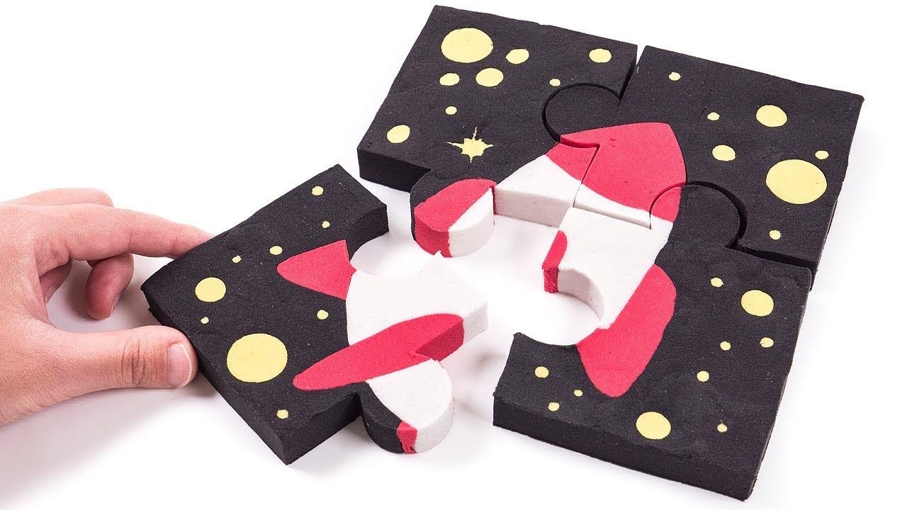 A Tisket A Tasket | DIY How to Make Kinetic Sand Space Rocket Puzzle Nursery Rhyme Kids