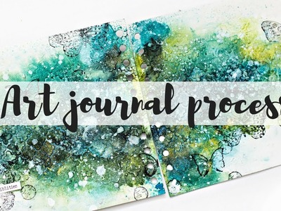 Art journal techniques - Process video -  Mixed media texture techniques