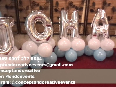 CNC Events - Christening Decoration for Baby Johann