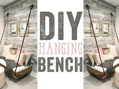DIY Faux Hanging Bench
