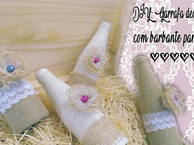 DIY: Garrafa decorada com barbante parte 2 (bottle decorated with string part 2)