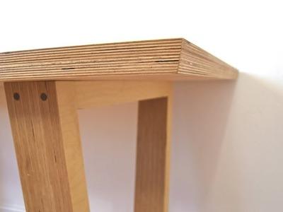 DIY Modern Plywood Dining Table