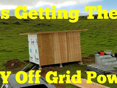 DIY Solar Off Grid Tesla Powerwall Shed Building Pt-8