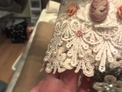 DT Project for Shabbylishious on Zibbet!!!  Vintage Inspired Lace Cuff