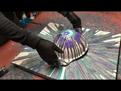 Fluid Painting Extreme Acrylic Pouring!! Colander Spin Must See!! Please Share and Subscribe.