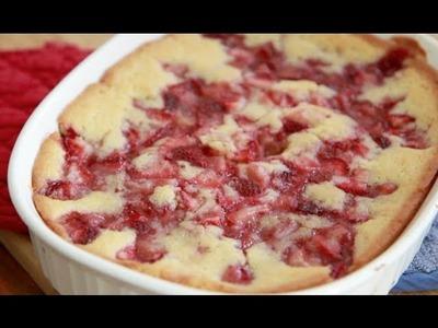 Fresh Strawberry Cobbler Recipe ~ Quick & Easy Dessert