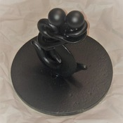 Handcrafted Metal Sculpture of Couple Embracing - Made with Vintage Eye Hooks. Each Piece Unique and Completely One-of-a-Kind!