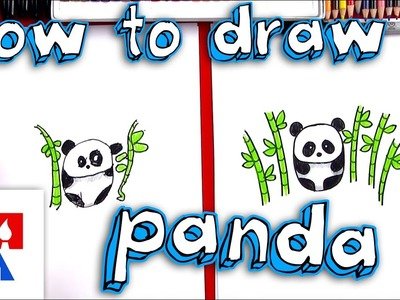 How To Draw A Cartoon Panda