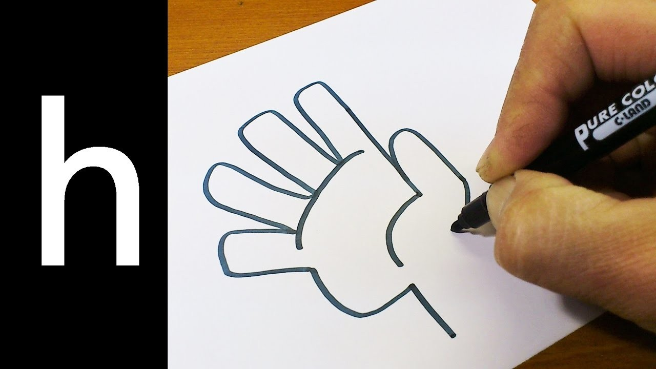 How To Draw Doodle Using Letters H For Kids Cute Easy Doodle
