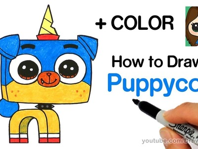 How to Draw Puppycorn Easy | Unikitty