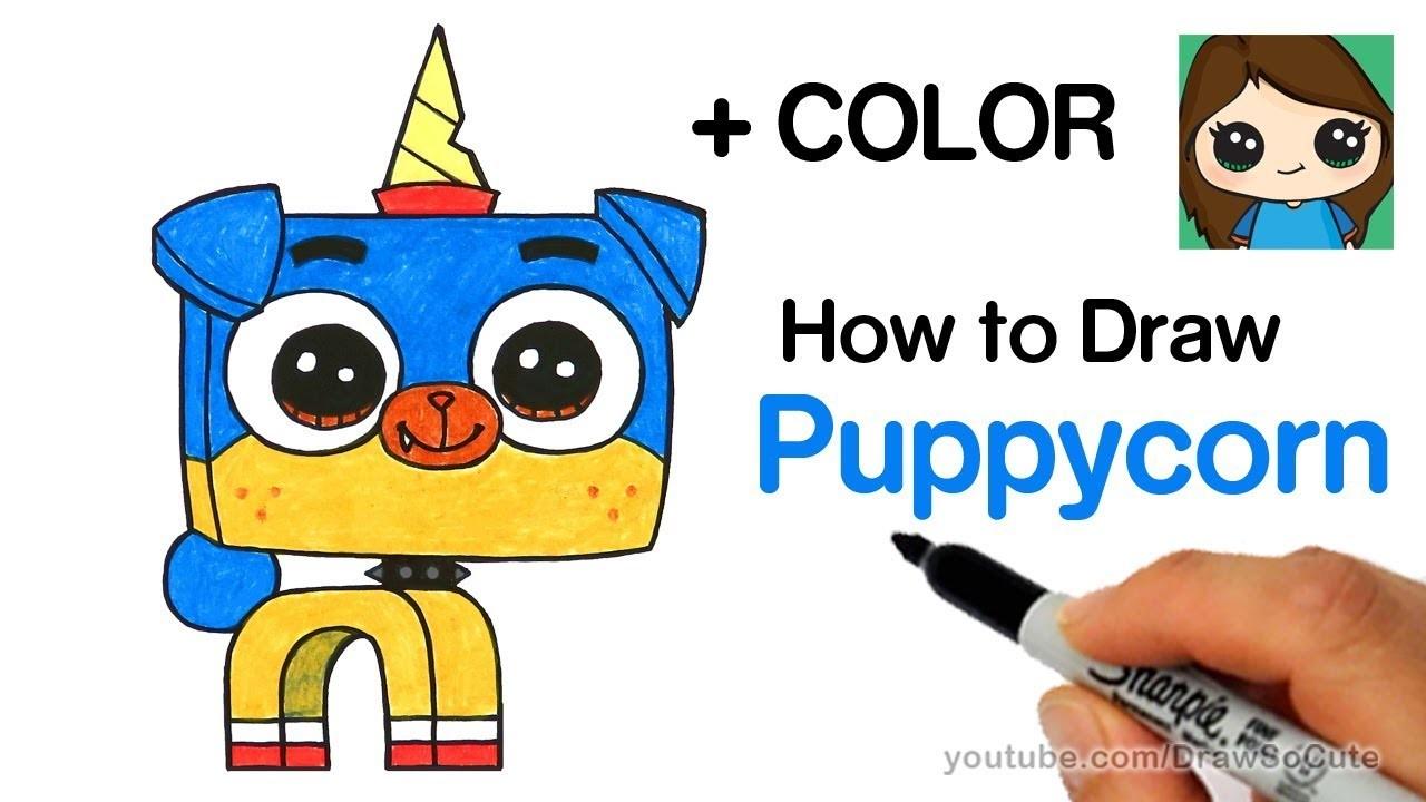 Draw, How to Draw Puppycorn Easy, Unikitty, How to Draw ...