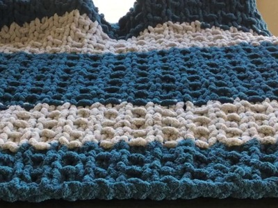 How to hand knit a chunky blanket using the Ribbing stitch
