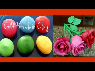 How to make Homemade air dry clay for Jewellery.CP clay