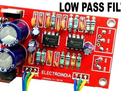 How to Make Low Pass Filter for Subwoofer with NE5532 IC | DIY ( ELECTROINDIA )