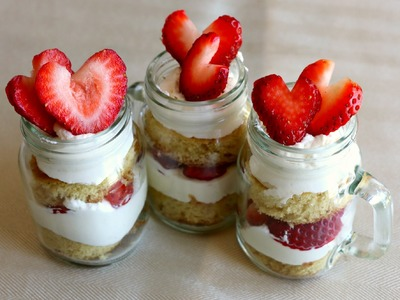 How to Make Mason Jar Strawberry Shortcakes