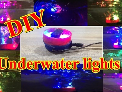 How to make multi color Air Bubble Aquarium Light | DIY Underwater LED Lights
