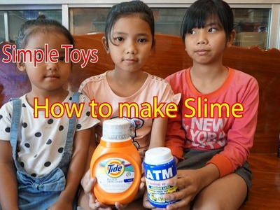 How to make slime with  Tide and ATM Glue| Simple Toys