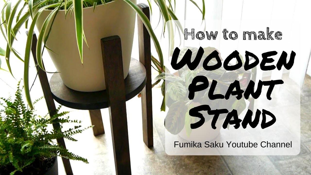 How to make Wooden Plant Stand