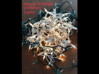 How to store Christmas Lights - Tangle No More
