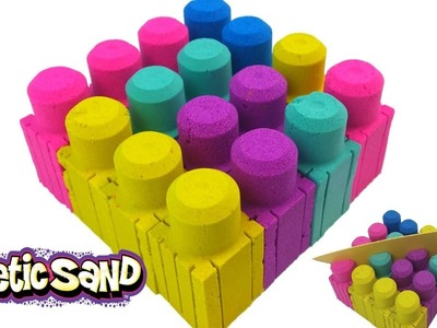 Kinetic Sand DIY Rainbow Blocks Giant Legos How to Make Nursery Rhymes for Kids