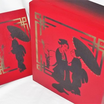 FREE POST - Gift set - Love In The Orient - LARGE BESPOKE Lockable wooden memory box with a FREE matching hardcover notebook.