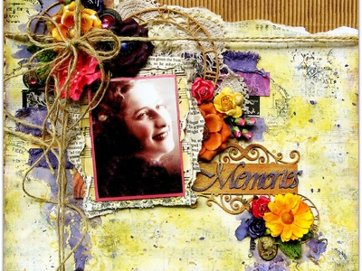 """""""Memories"""" By Di Garling. A touch of Vintage Video Tutorial October 2014"""