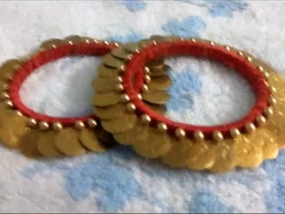 New pattern Antique traditional bangle making  || silk thread bangle || periwinkle TV