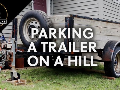 One way to park a trailer on a hill (DIY parking block)
