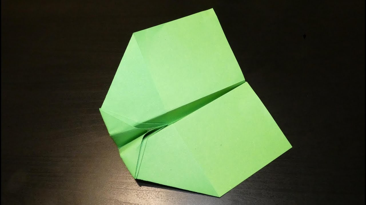 Paper airplane - simple glider (How to make a paper airplane