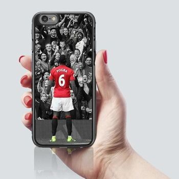 Paul Pogba Football Black PHONE CASE COVER iPHONE 7 & 8 Man U