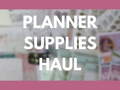 PLANNER SUPPLIES HAUL. Etsy Stickers, Clips, & More!