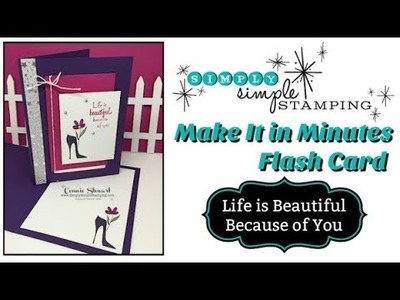 Simply Simple MAKE IT IN MINUTES - Life Is Beautiful by Connie Stewart
