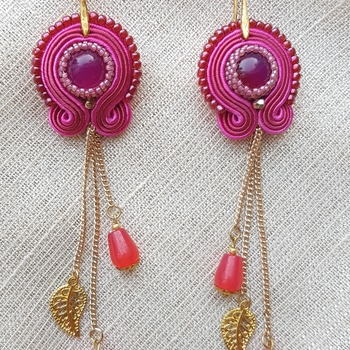 Small soutache earrings