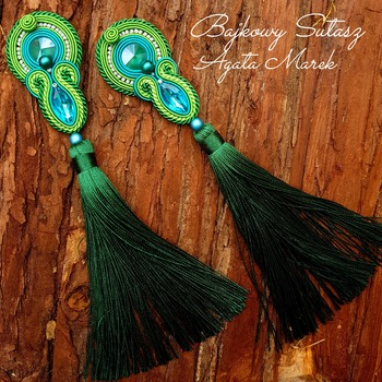 Soutache statement jewellery set