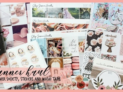 TEMPT ME TUESDAY ll PLANNER HAUL ll PLANNER SOCIETY, STICKER KITS AND WASHI TAPE