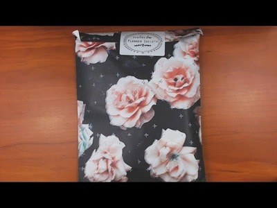 The Planner Society Unboxing January 2018 and Making Something With It!