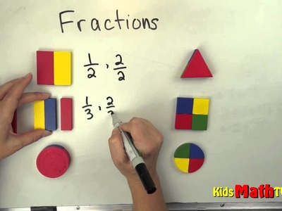 Understanding the Basics of Fractions Video Using Shapes, Kindergarten, 1st and 2nd grades