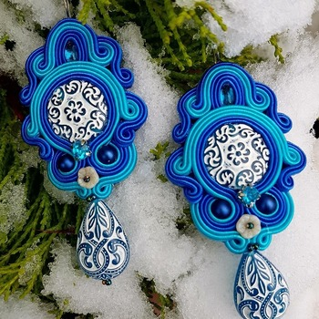 Vintage soutache earrings