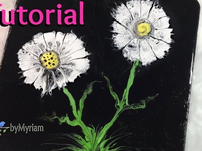 [9] Fluid acrylic painting : How to paint flowers quickly and easily