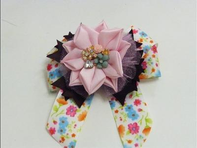 Como hacer lindas y faciles flores de puntas para Moños, ribbon flowers for bows