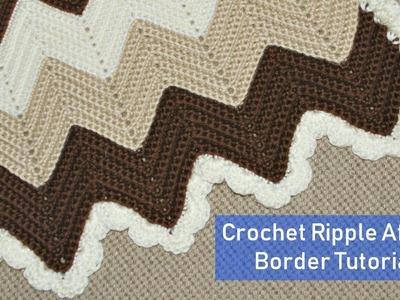 Crochet Ripple Afghan Border Tutorial - Crochet Jewel