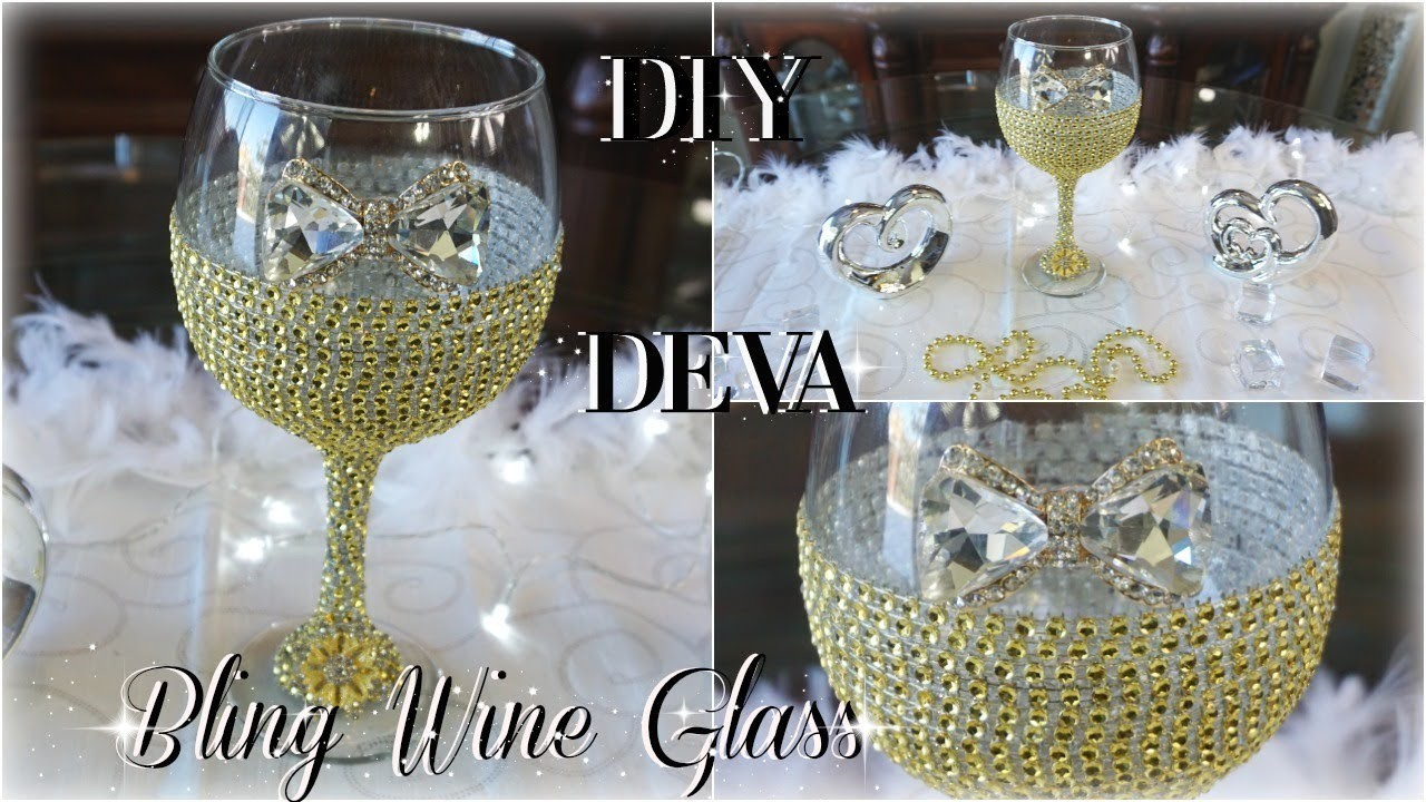 42cd90a108d DIY BLING WINE GLASS 50TH BIRTHDAY