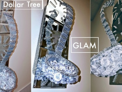 "DIY Dollar Tree Wall Decor (My Most Favorite Dollar Tree DIY) Super GLAM & EASY ""Bling"""
